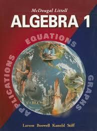 algebra 1 math book