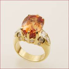gold topaz ring