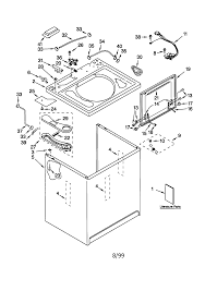 kenmore washer parts diagram