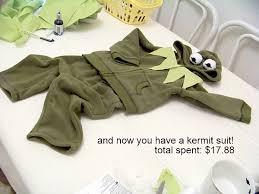 green sweatsuit