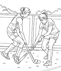coloriage hockey