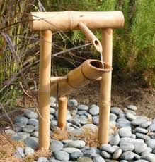 japanese bamboo water feature