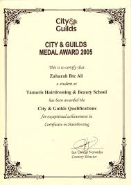 hairdressing certificate