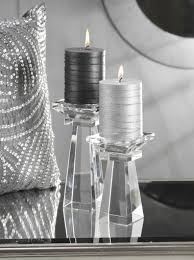 crystal candles holders