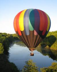 a hot air ballon