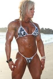bodybuilder beach