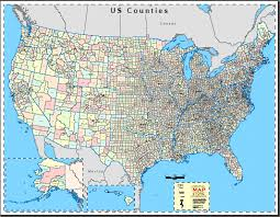 county map of us