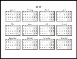 free 2008 calendars