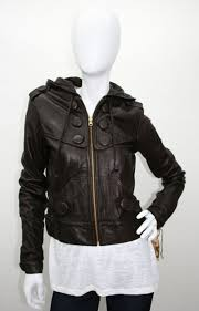 leather jacket with hoody