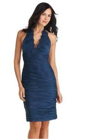 adrianna papell blue dress