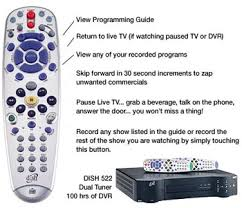 dish network dvr remote