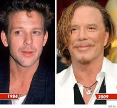 old photos of mickey rourke
