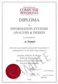 computer diploma certificate