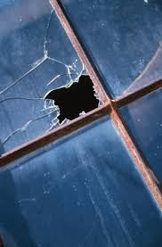 broken window glass