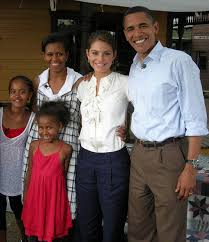 a picture of barack obama and his family