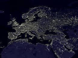 europe satellite view