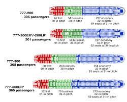 boeing 777 200 200er seating