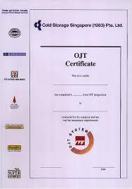 ojt certification