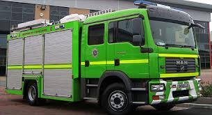 green fire engine
