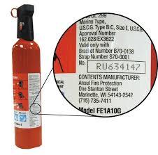fire extinguisher label