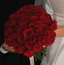 bridal bouquets red roses