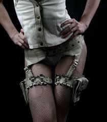 leather suspender belt