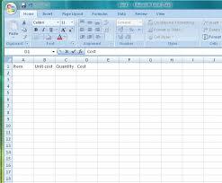 blank spreadsheet