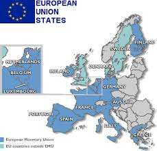 euro currency map