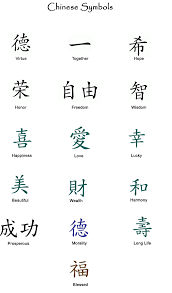 chinese symbol words