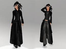 black leather trenchcoat