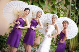 bridesmaid purple