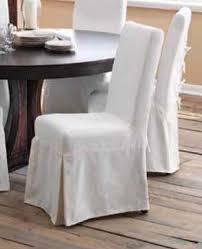 slipcovered dining chair