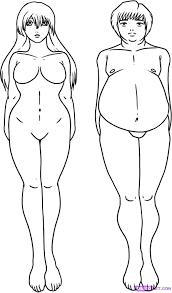how to draw a fat person