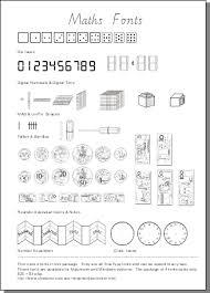 maths font