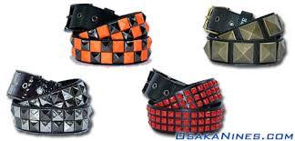 checkered studded belts