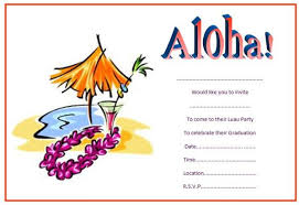 hawaiian themed party invitations
