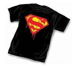 death of superman t shirt