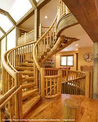 log stair