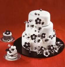 chic wedding cake