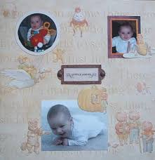 baby scrapbook page layout