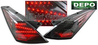 350z black tail lights
