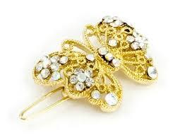 gold hair clips