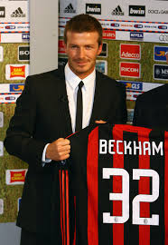 david beckham ac milan shirt