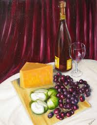 pictures of wine and cheese