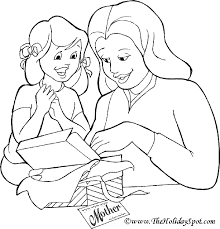 mothers day pictures to colour in
