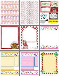 printable scrapbook page
