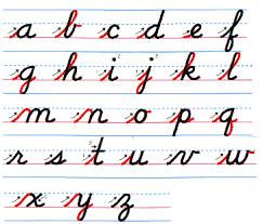 cursive writing printouts