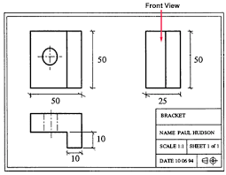 engineering drawing layout