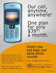 cell phone ad