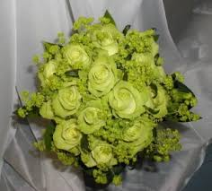 green rose flowers